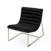 Felicia Parisian Modern Velvet Sofa Chair Black