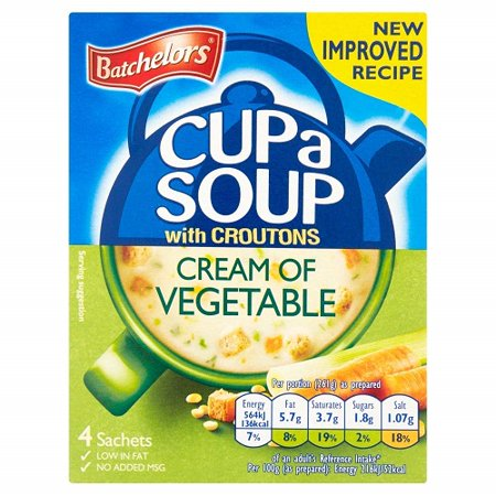 Batchelors Cup A Soup with Croutons Cream Of Vegetable 4S