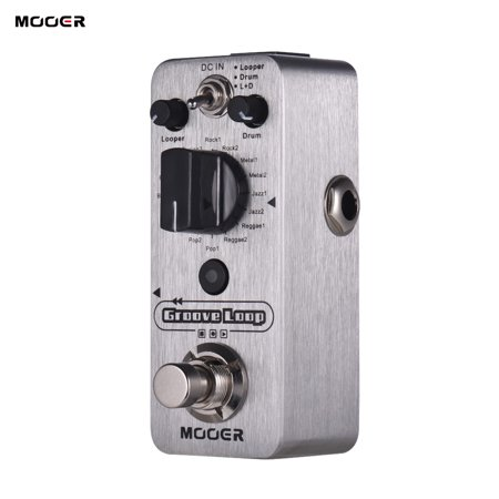 MOOER Groove Loop Drum Machine & Looper Pedal 3 Modes Max. 20min Recording Time Tap Tempo True Bypass Full Metal Shell