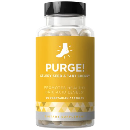 Purge! Uric Acid Cleanse & Joint Support - Ready to Eat & Drink What You Want? - Active Mobility, Strong Flexibility, Healthy Inflammation - Tart Cherry & Celery Seed - 60 Vegetarian Soft Capsules ()