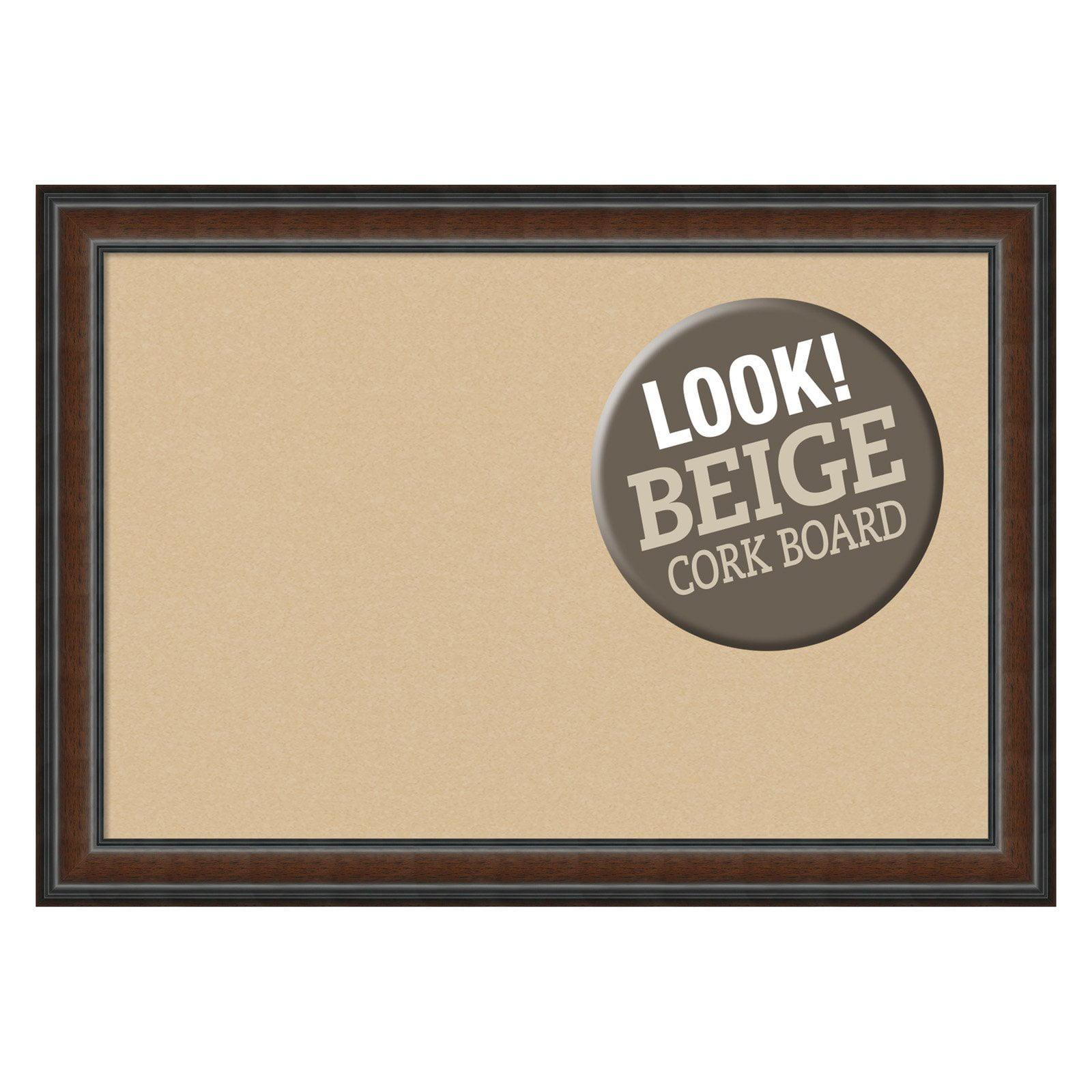Amanti Art Cyprus Walnut Framed Cork Board