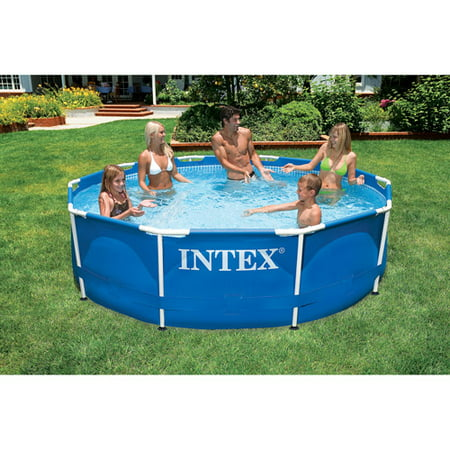 intex 10 39 x 30 metal frame swimming pool. Black Bedroom Furniture Sets. Home Design Ideas