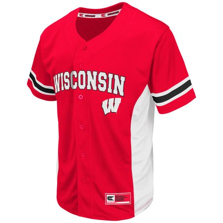 new arrival b4254 eed86 Mens NCAA Wisconsin Badgers Baseball Jersey (Team Color ...