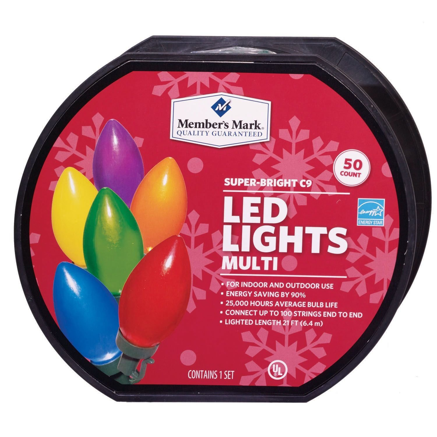 members mark super bright led christmas lights multi colored 50 count c9 walmartcom