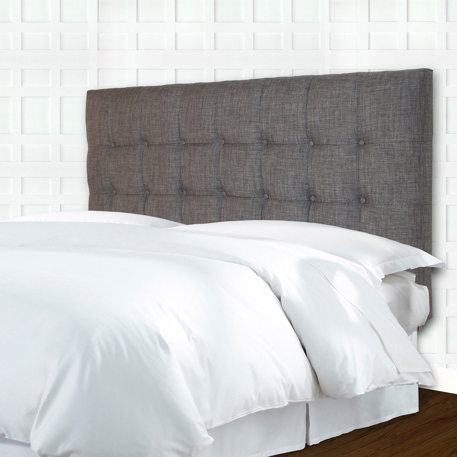 d40bcc5b3146 Strasbourg Button-Tuft Upholstered Headboard with Adjustable Height ...