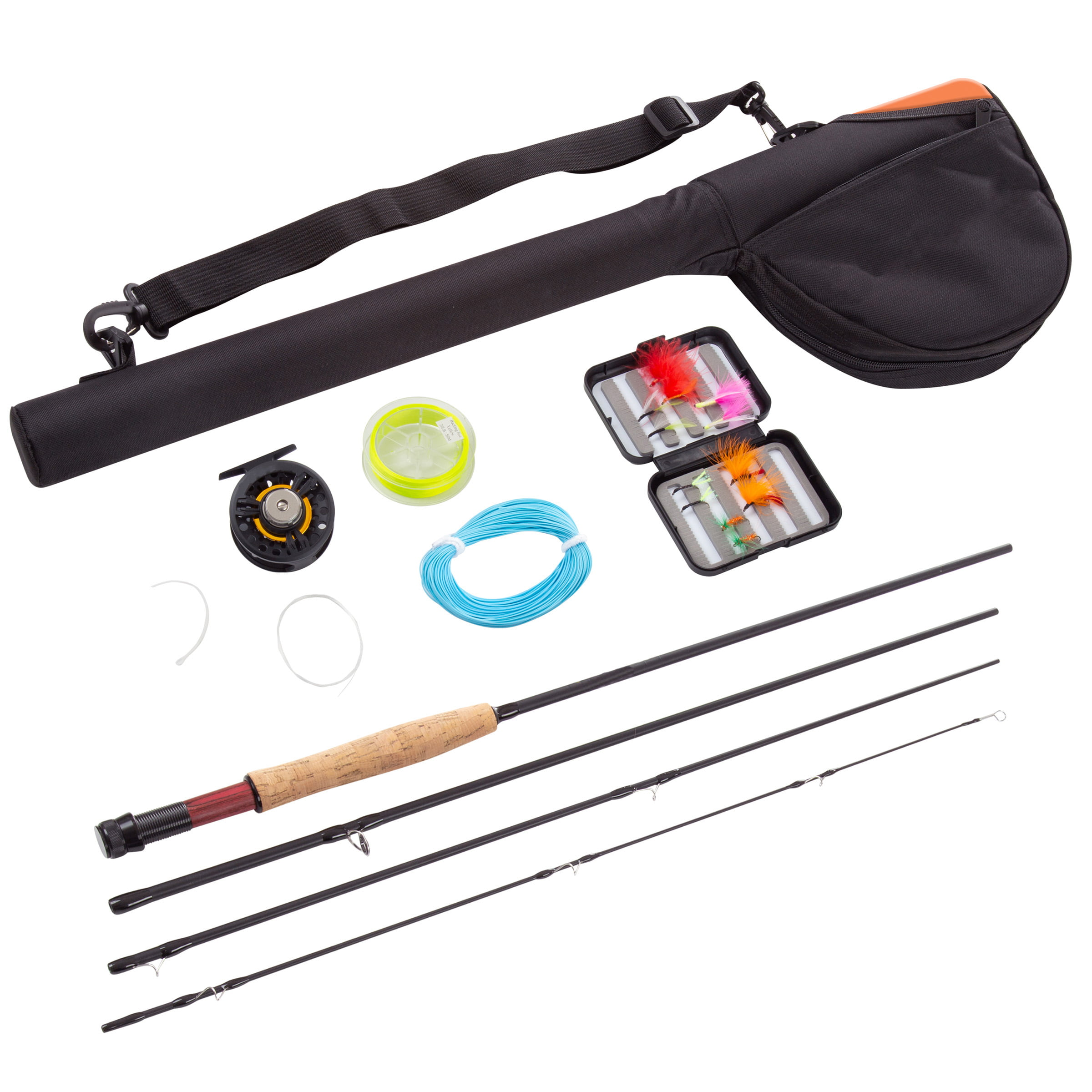 Rad Sportz Fly Fishing Rod Reel Combo Starter Set With Travel Bag Walmart Com Walmart Com