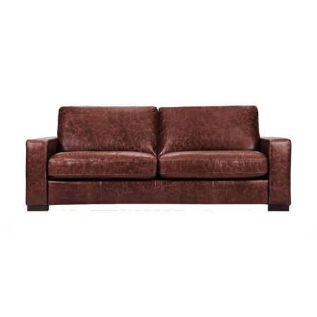 Enjoyable Capsule Volo Design Cooper Leather Sofa In Distressed Brown Andrewgaddart Wooden Chair Designs For Living Room Andrewgaddartcom