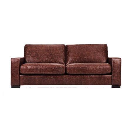 Capsule Volo Design Cooper Leather Sofa in Distressed Brown
