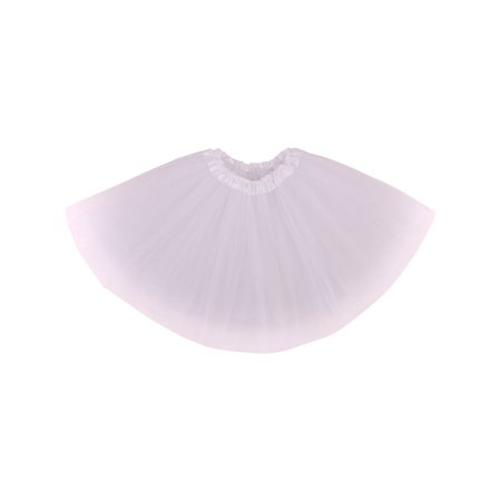 Adult Classic 3-layered Tulle Tutu Ballet Skirts Ruffle Pettiskirt, White - Ruffle Bloomers For Adults