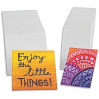 """Mini Canvas Panel, 2-3/4"""" x 2-3/4"""", Pack of 60"""
