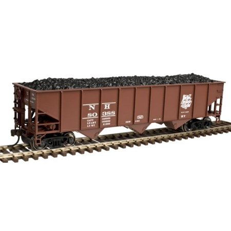 Atlas 20003848 HO New Haven AAR 70-Ton 9-Panel 3-Bay Open Hopper Car with Standa