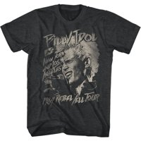 Billy Idol 80's Punk Rock Singer Musician MTV Adult T-Shirt Tee Rebel Yell Tour Charcoal