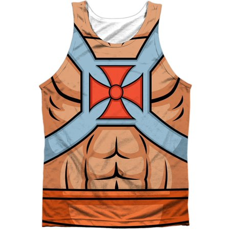Masters Of The Universe Men's  He Man Costumes Mens Tank White - He-man Adult Costume