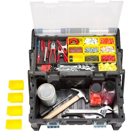 Stalwart Parts and Crafts Tiered-Storage Tool Box 22