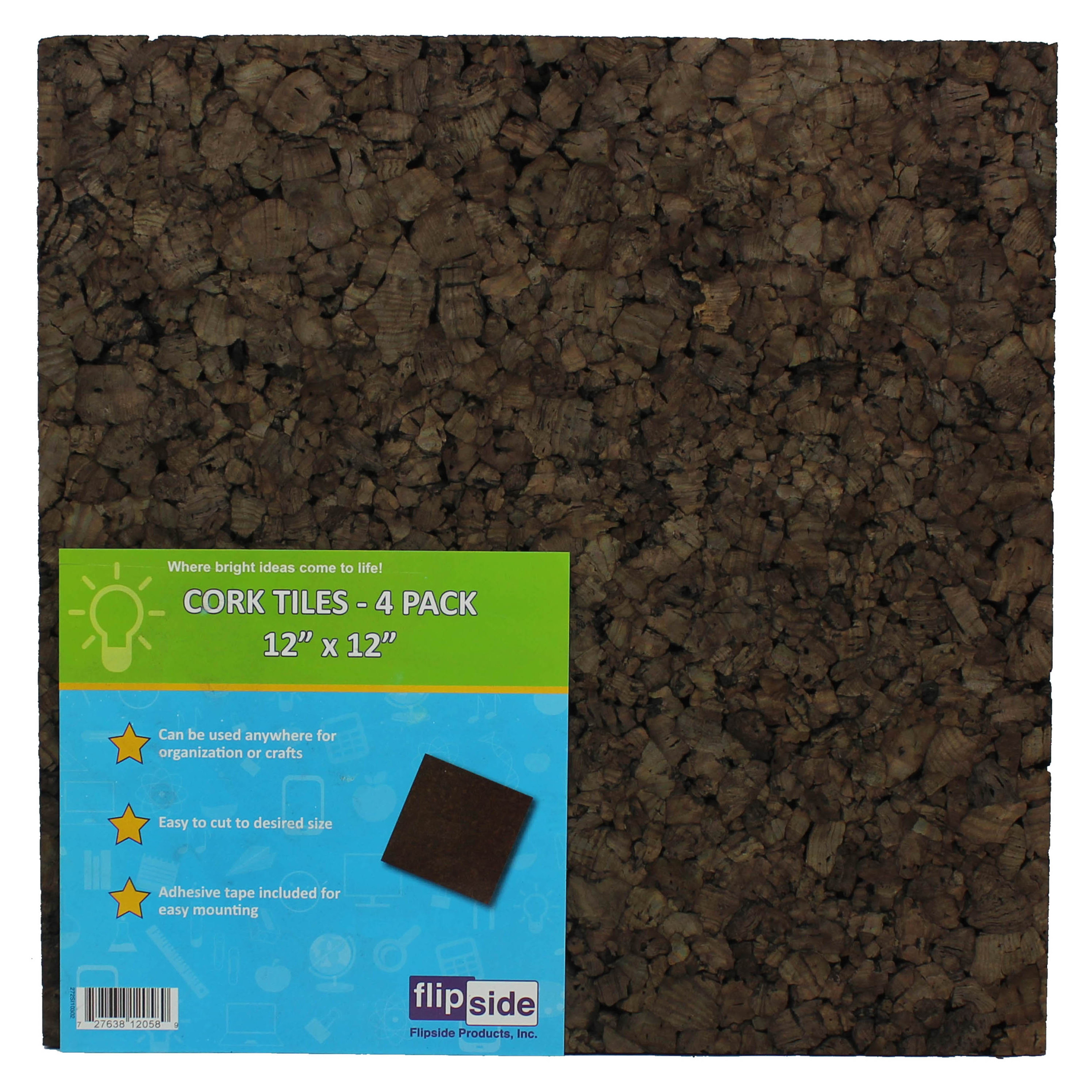 12 Inch x 12 Inch x 1//2 Inch Thick Brown Cork Squares