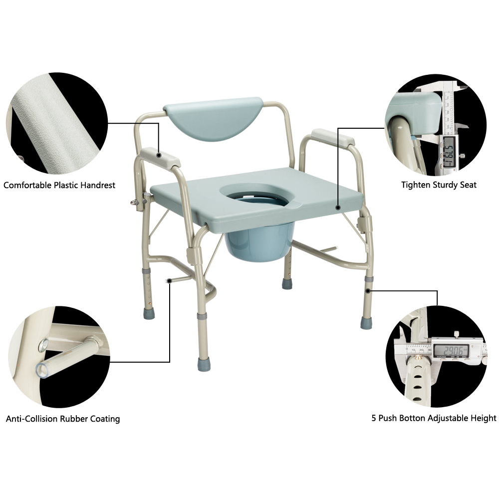 Ktaxon Bedside Commode Chair Commodes Chairs Adults Padded Medical Seat Drop Arm Toilet