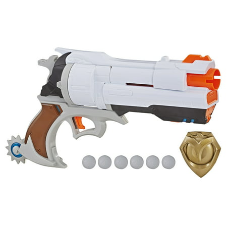 Nerf Rival Overwatch McCree Blaster with Die Cast Badge & 6 Rival Rounds
