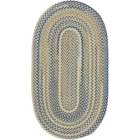 capel rugs tooele braided oval area rug light tan 5 x 8