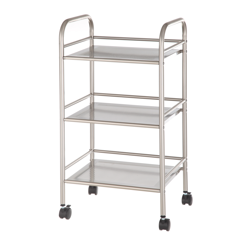 Mainstays Rolling Cart in Satin Nickel Finish - CAI0169G