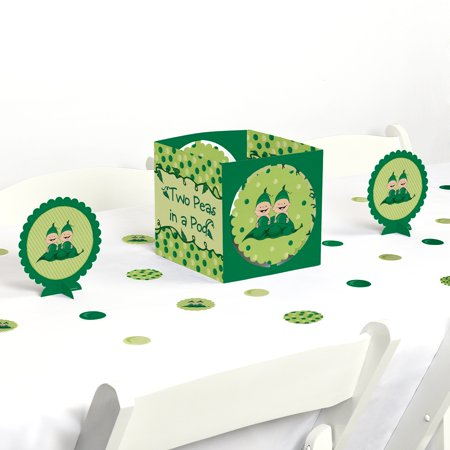 Twins Two Peas in a Pod - Baby Shower or Birthday Party Centerpiece & Table Decoration Kit (Twin Baby Shower Ideas)