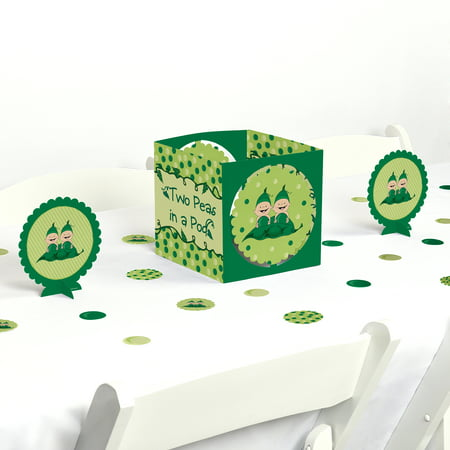 Twins Two Peas in a Pod - Baby Shower or Birthday Party Centerpiece & Table Decoration Kit](Twins Baby Shower)