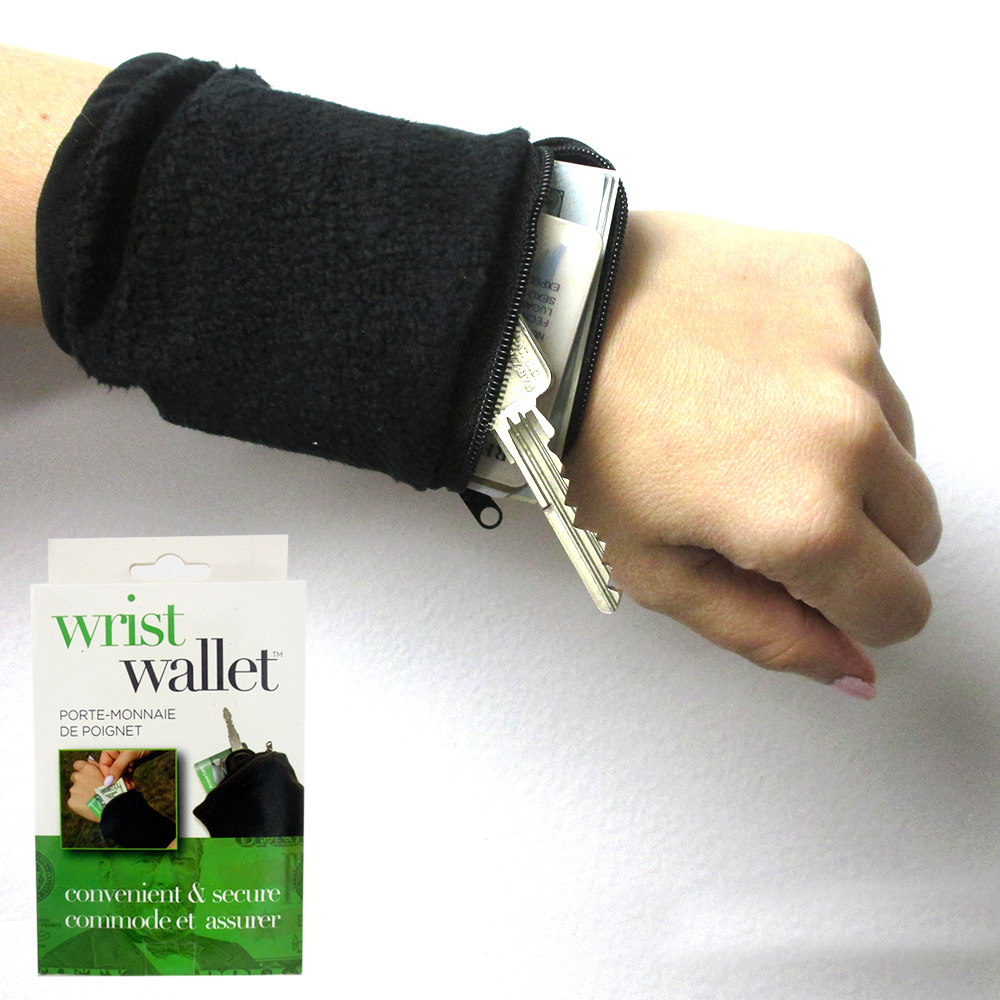 Wrist Wallet Arm Fleece Sport Pouch Band Zipper Running Travel Gym Money ID Card