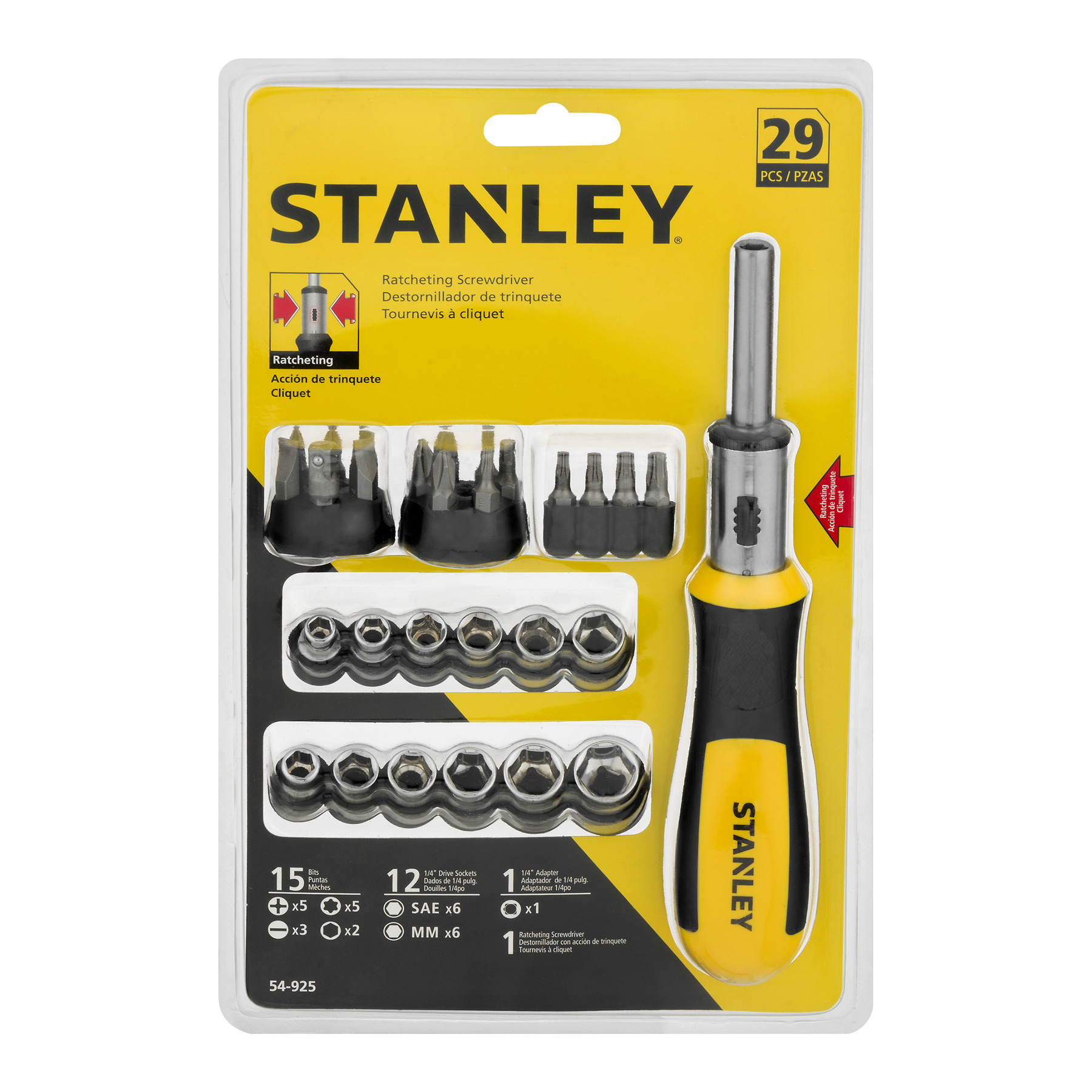 Stanley Ratcheting Screwdriver - 29 PC, 29.0 PIECE(S)