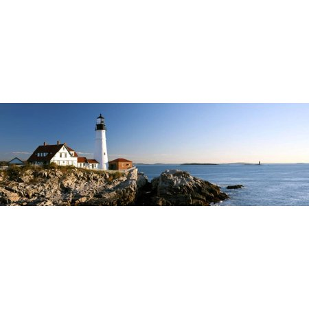 Ram Lighting Island Light (Lighthouse on the Coast, Portland Head Lighthouse, Ram Island Ledge Light, Portland Print Wall Art)