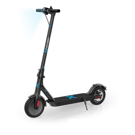 "Hover-1 Pioneer Electric Folding Scooter, Black with 8.5"" Air-Filled Tires, LED Headlight, Digital Display, Electronic throttle, 14 MPH Max Speed, 264 lbs. Max Weight"