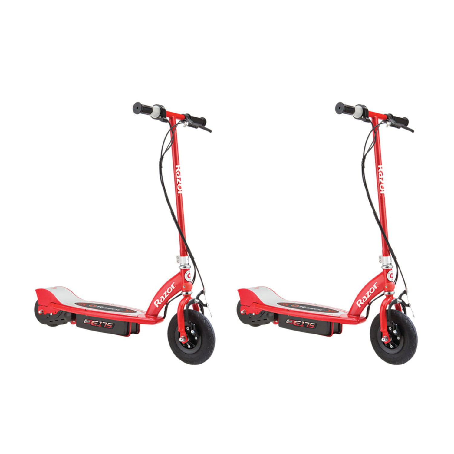 Razor E175 Motorized 24V Rechargeable Electric Power Kids Scooter, Red (2 Pack) by Razor