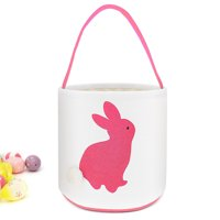 Cylinder Bunny Ear Easter Basket, Dual Layer Canvas Bag With Bunny Design for Easter Egg Hunt Basket Carrying Eggs Gifts for Kids Holding Toys Books School Project Lunch Box-Cylinder Bag- Dark Blue