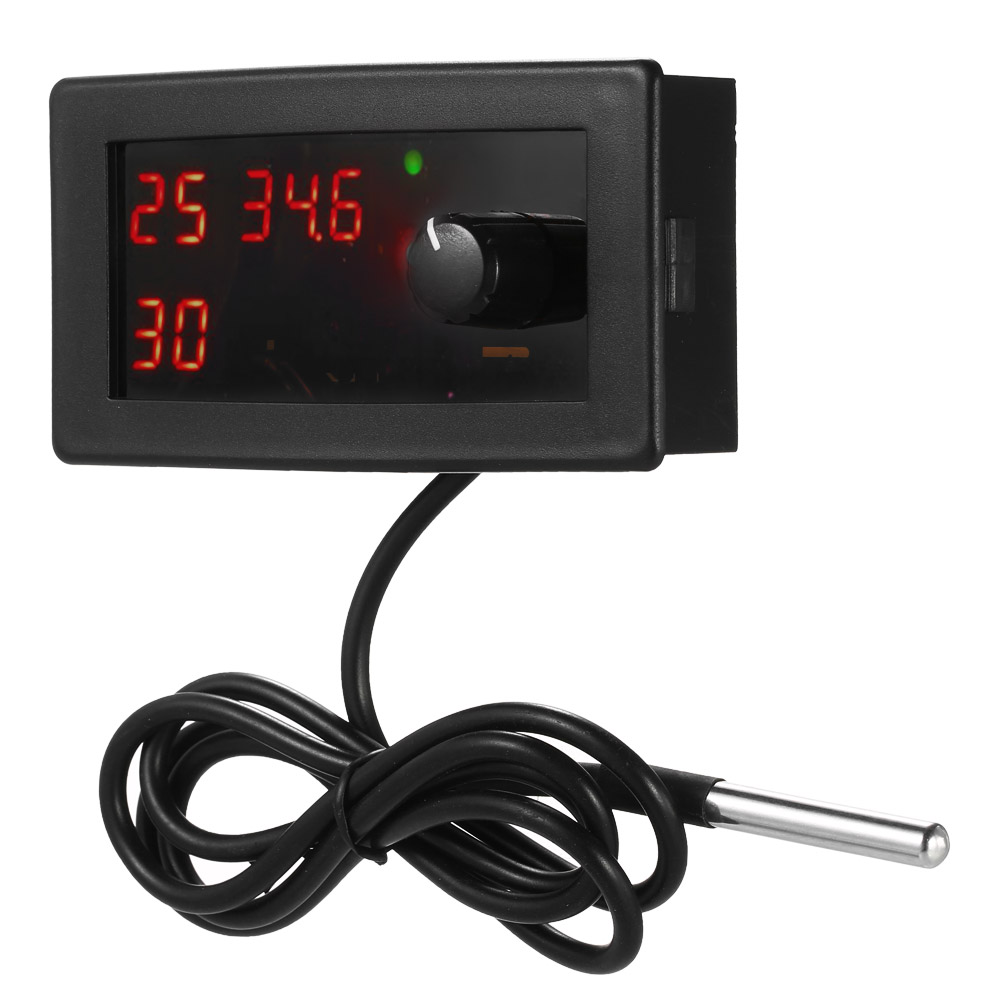 Digital Temperature Controller Timer Thermostat with Waterproof Sensor Probe