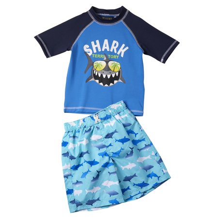 Shark Rashguard & Swim Trunks 2pc Set (Toddler - Toddler Boys Swimwear