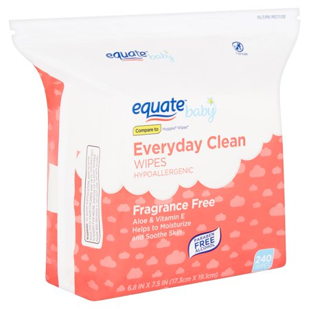 Equate Baby Everyday Clean Fragrance Free Wipes, 240 Count by Equate