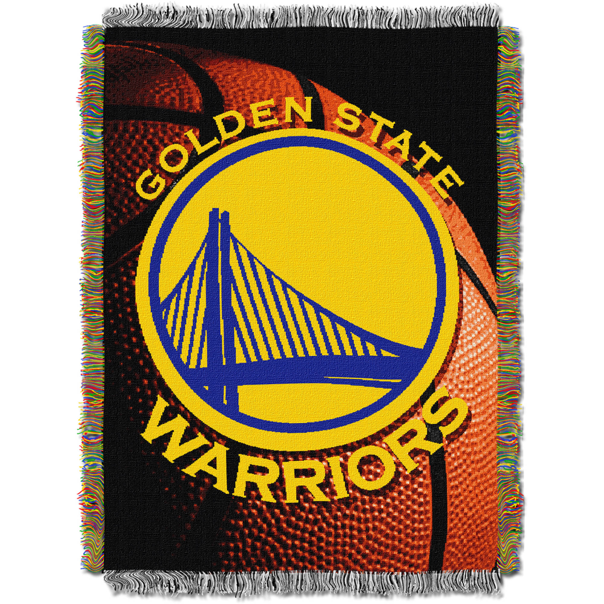 """NBA 48"""" x 60"""" Photo Real Series Tapestry Throw, Warriors"""