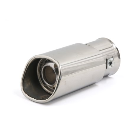 Unique Bargains Universal Fits Car Stainless Steel Double Tip