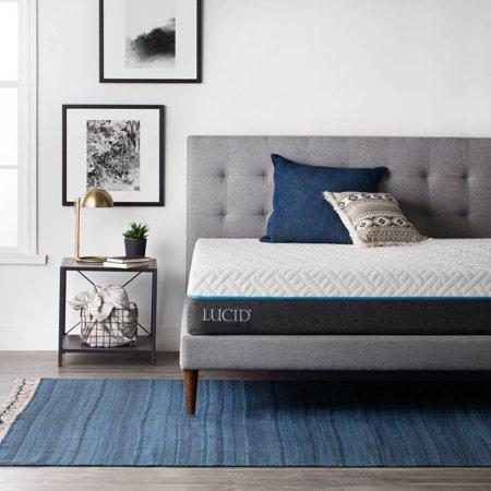 lucid 11 inch evo gel memory foam hybrid mattress. Black Bedroom Furniture Sets. Home Design Ideas