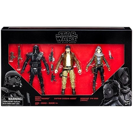 STAR WARS ROGUE ONE BLACK SERIES 6 FIGURE 3 PACK EXCLUSIVE, Take on the role of the some of the greatest heroes and most fearsome villains in the galaxy By (Best Star Wars Villains)