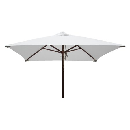 DestinationGear Classic Wood 6.5' Square Patio Umbrella, Natural ()