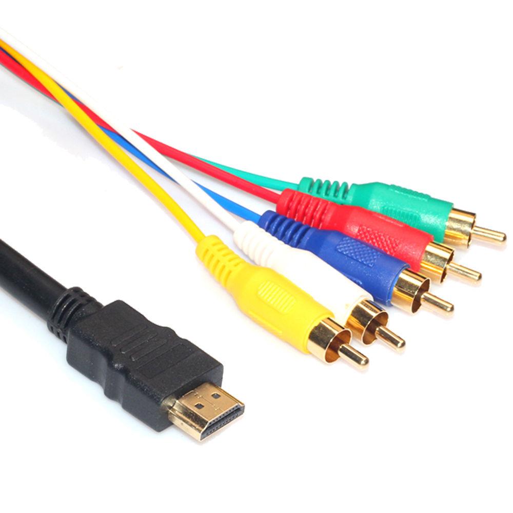 Zimtown Hdmi Male To 5 Rca Rgb Audio Video Av Component