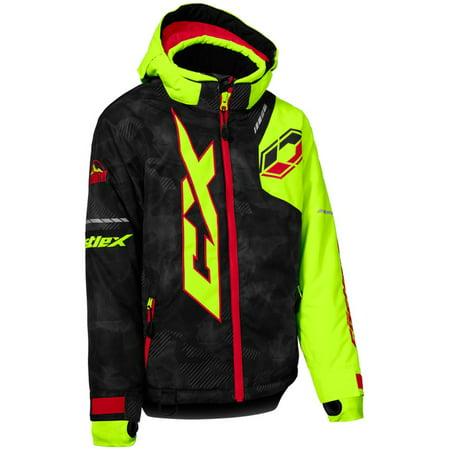 fcf42dc25 Castle X Stance Alpha Youth Snow Jacket Black Hi-Vis Red - Walmart.com