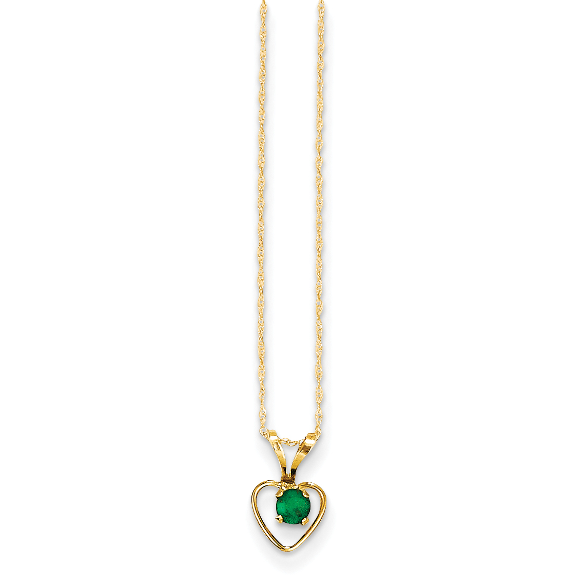 Bonyak Jewelry 18 Inch Hamilton Gold Plated Necklace w// 4mm Green August Birth Month Stone Beads and Coast Guard Diamond Charm