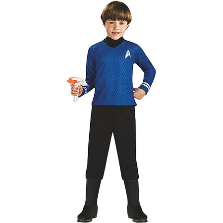 Star Trek Movie Deluxe Shirt Child Halloween Costume, Blue](Movie Star Costume)