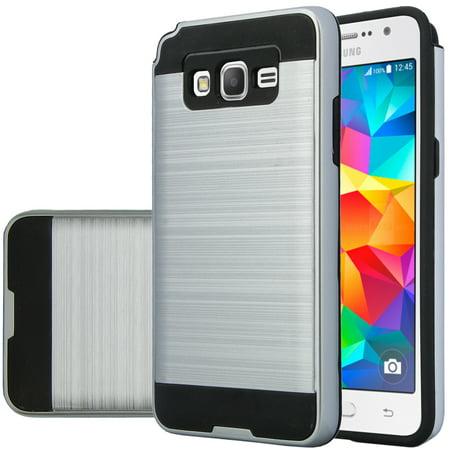 Galaxy Go Prime Case | Galaxy Grand Prime Case, Slim Hybrid Dual Layer Armor Case for Samsung Galaxy Go Prime/Grand Prime - Brush (Best Phone Case For Galaxy Grand Prime)