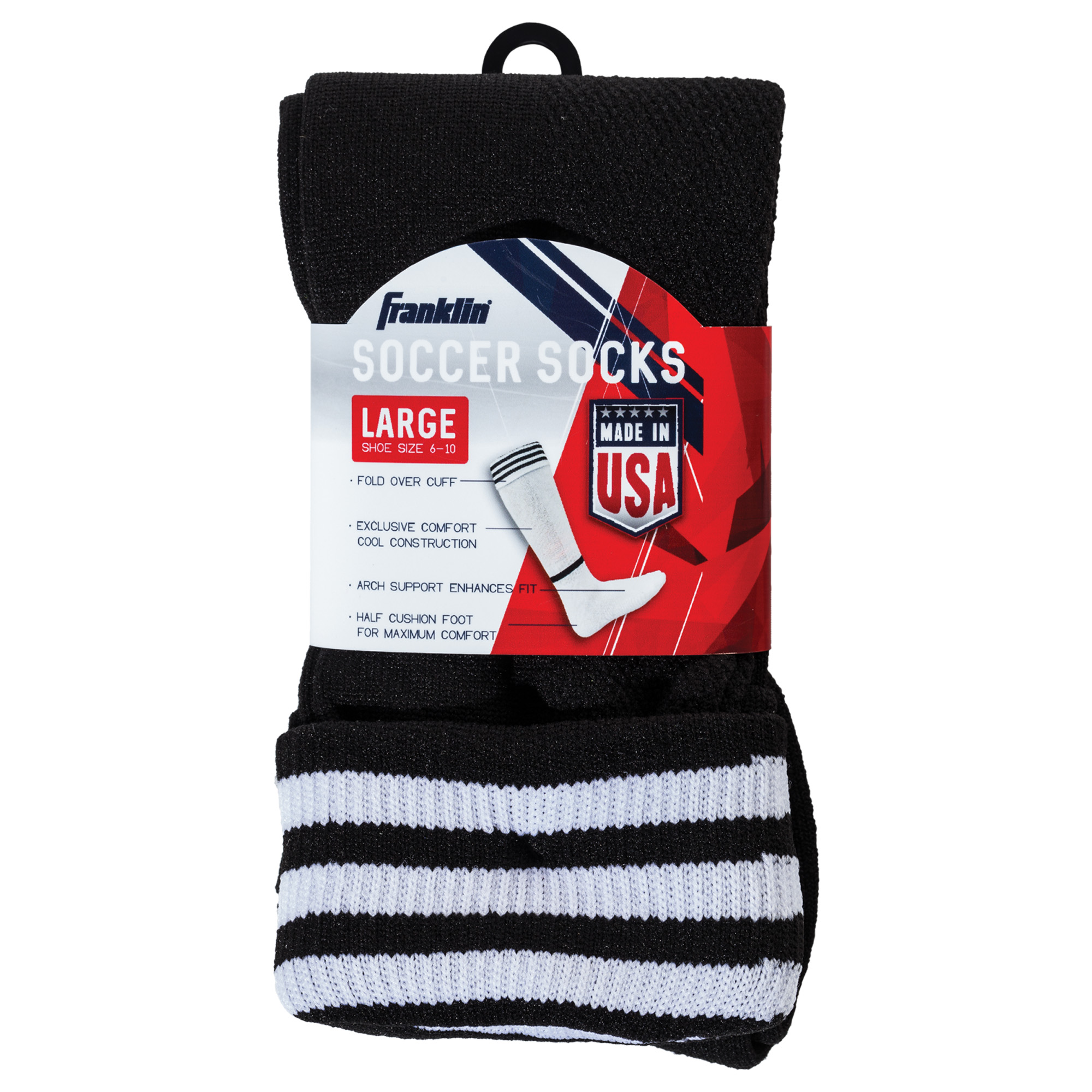 Franklin Sports ACD Soccer Socks, Large