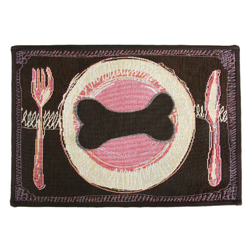 Park B Smith Ltd PB Paws & Co. Woodland Dog's Dinner Tapestry Indoor/Outdoor Area Rug