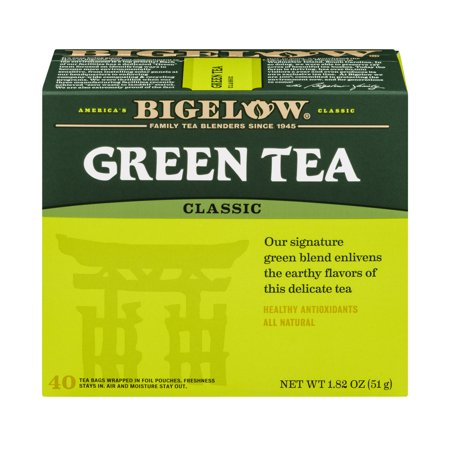 (4 Boxes) Bigelow Green Tea, Classic, Tea Bags, 40 Ct (C And O Bigelow)