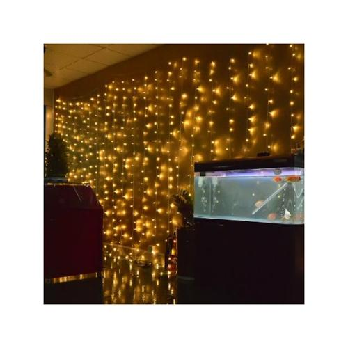 224led 9.8ft*6.6ft Curtain String Fairy Wedding Led Lights for Garden,Wedding, Party (Warm White)