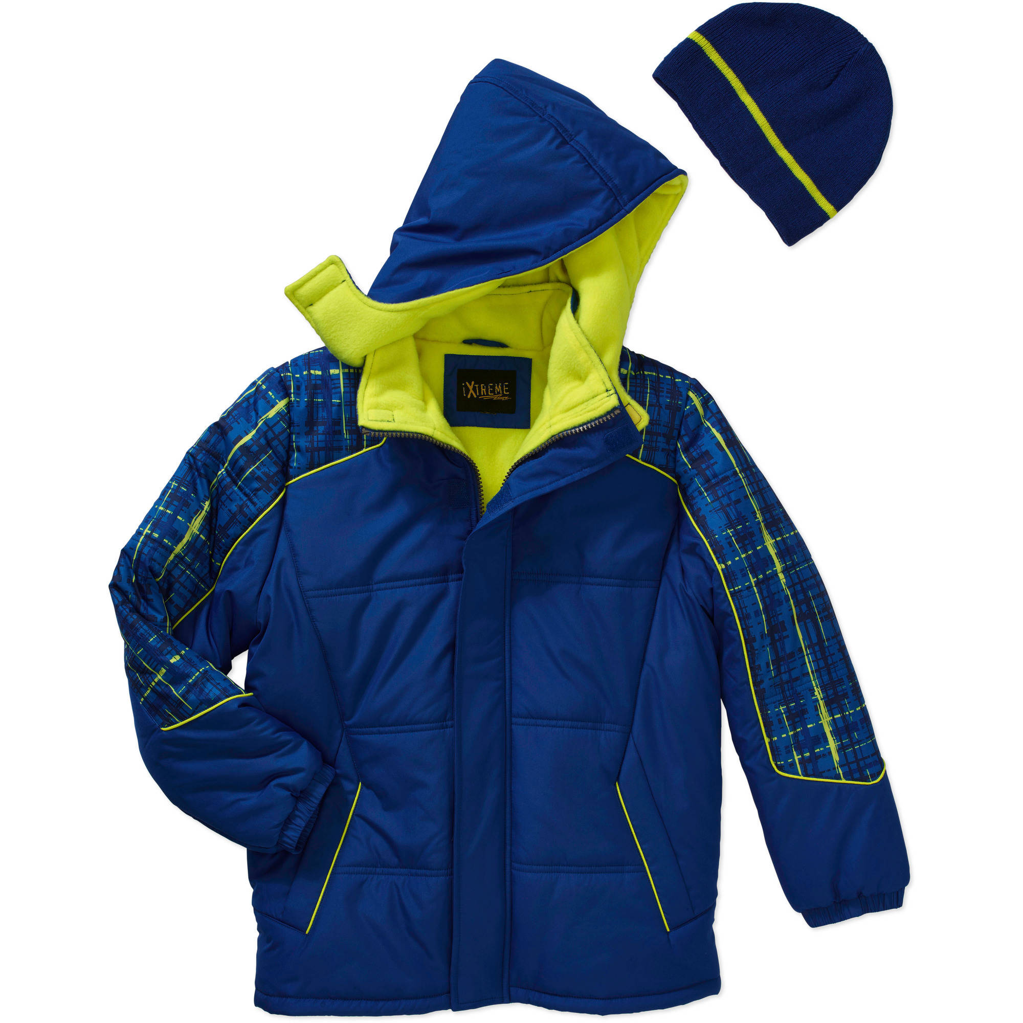 iXtreme Boys' Bubble Jacket with Bonus Hat