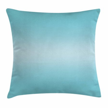 Ombre Throw Pillow Cushion Cover, Open Blue Sky on a Spring Day Inspired Blue Colored Modern Design Room Decorations, Decorative Square Accent Pillow Case, 18 X 18 Inches, Turquoise, by Ambesonne